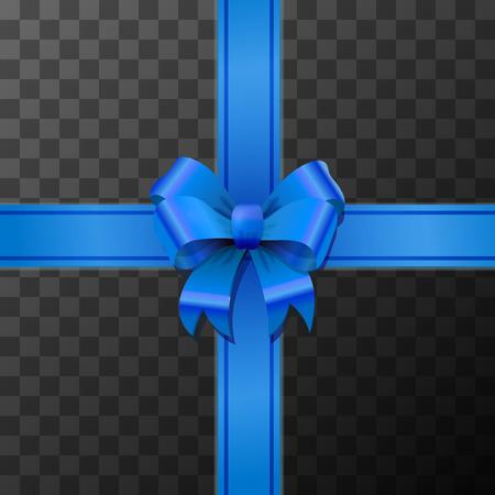 Hellblauer Schleifenknoten mit Klebeband auf transparentem Hintergrund
