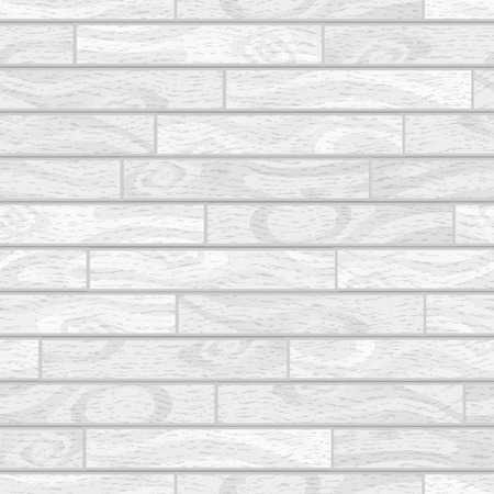 White realistic wooden boards with texture, parquet seamless pattern