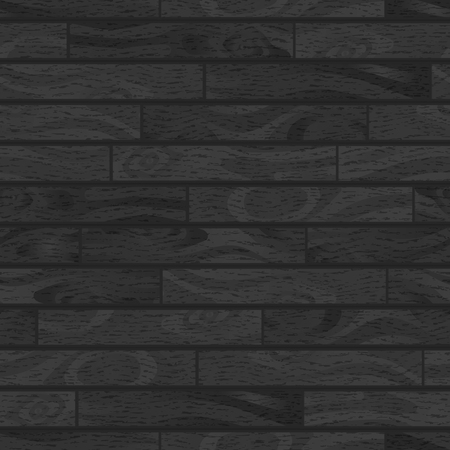 Black realistic wooden boards with texture, parquet seamless pattern