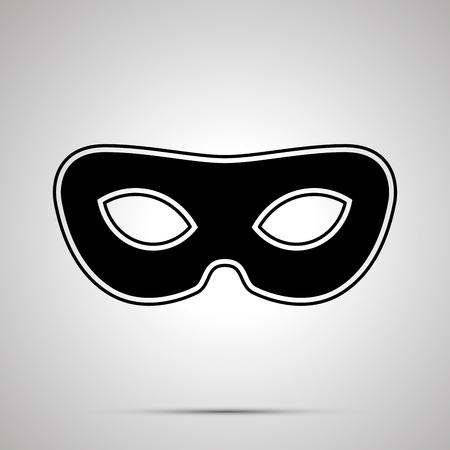 Vintage carnival mask, simple black silhouette