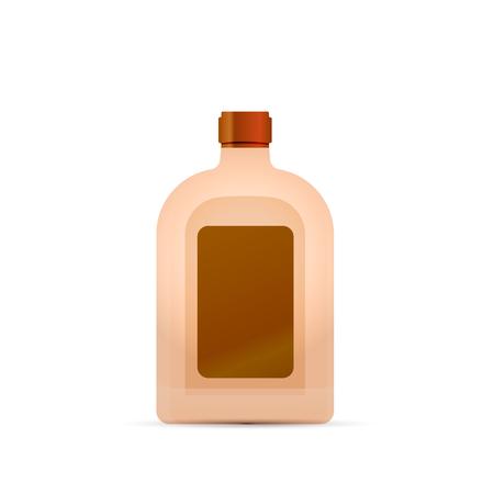 Bright glossy luxury tincture bottle isolated on white Stock Illustratie