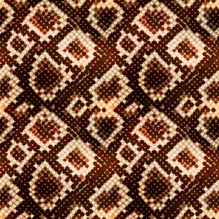 Bright realistic snake skin texture, detailed seamless pattern Ilustração Vetorial