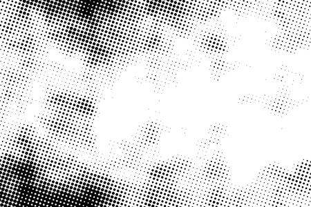 Black grunge halftone pattern, retro background on white Banque d'images - 122954334