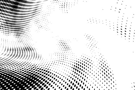 Twisted grunge halftone pattern, retro background on white Banque d'images - 122954335