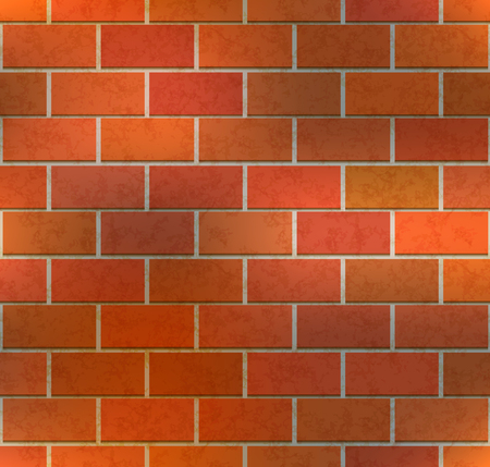 Bright brown brick wall with texture, industrial seamless pattern Banque d'images - 122954337
