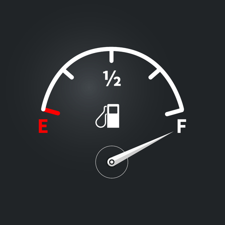 Modern fuel indicator with high fuel level