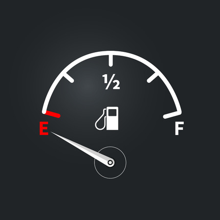 Modern fuel indicator with low fuel level