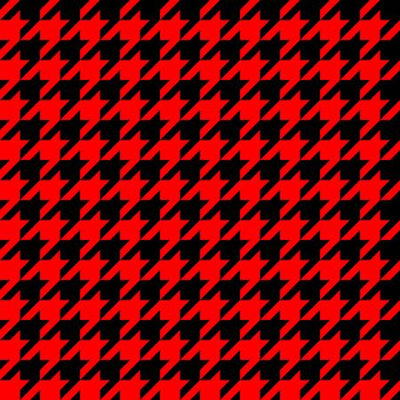 Retro red and black houndstooth seamless pattern