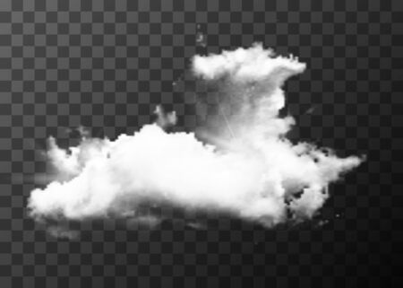 Detailed realistic cloud on transparent background
