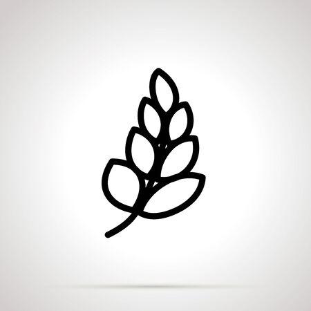 Gluten simple black icon on gray 向量圖像