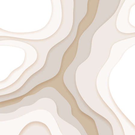 Abstract beige background in paper cut and craft style