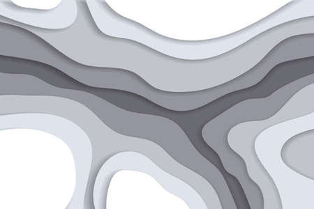 Grayscale background in paper cut and craft style Illustration