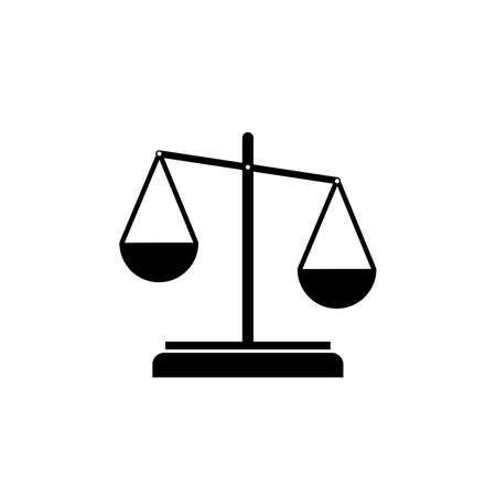 Scale of justice simple black icon on white