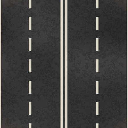Top view of road, realistic highway pattern