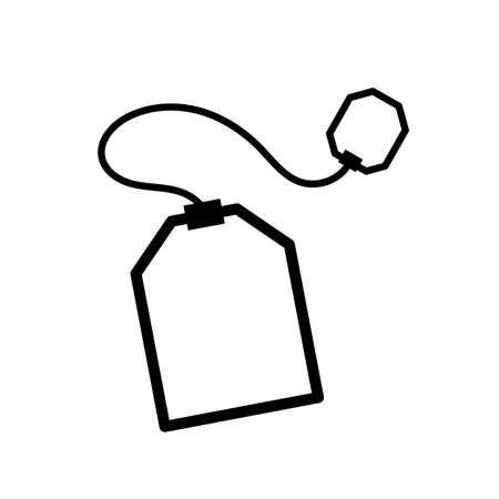 Teabag simple black icon on white Ilustração