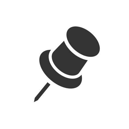 Pushpin simple black icon on white