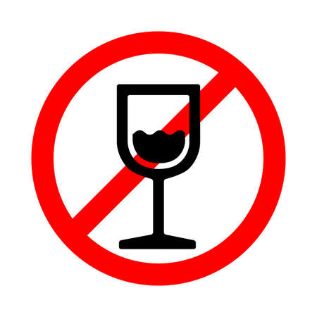 Alcohol not allowed, forbidden sign