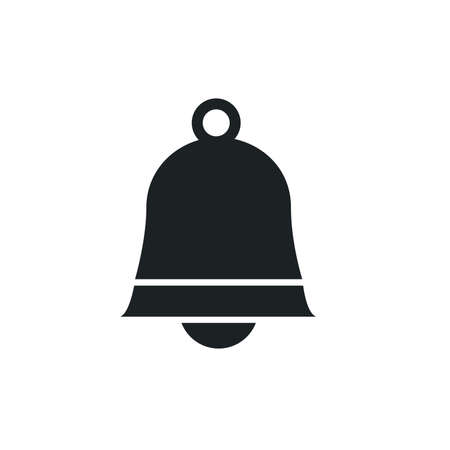 Ringing sign, bell icon on white background