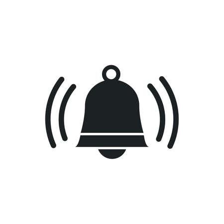 Ringing bell sign, jingle icon on white background Ilustração