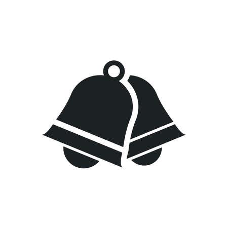 Ringing sign, couple bells icon on white background Ilustração