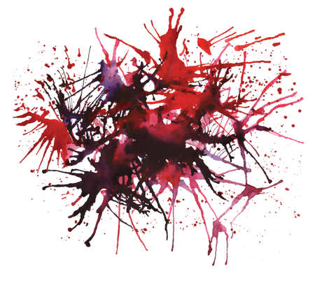 overflow: Abstract watercolor red spots Illustration