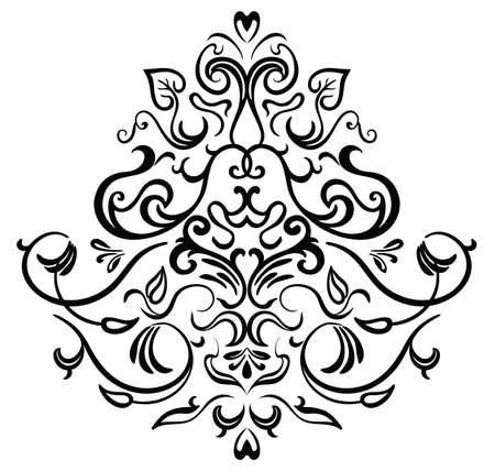 ornamental frame: Black-white ornamental frame Illustration