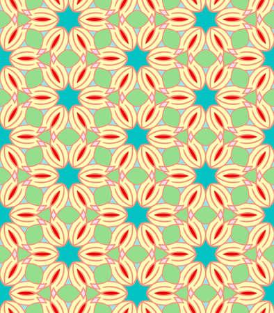 mosaic: seamless oriental  mosaic pattern Illustration