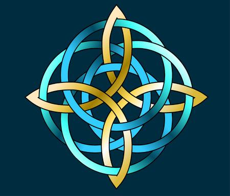originele keltische soort medaillon patroon