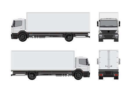 Commercial cargo truck template