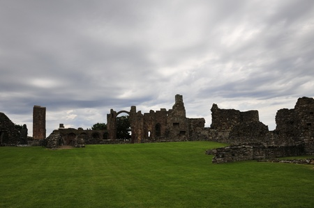 gospels: Ruins of a Priory from the inside. Stock Photo