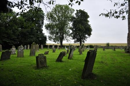11th century: 11th Century Church Graveyard  Stock Photo