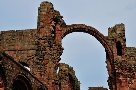 anglo saxon: A Rainbow Archway in a ruined Priory
