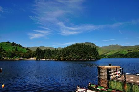 sir walter scott: A Scottish Loch from a northern pier