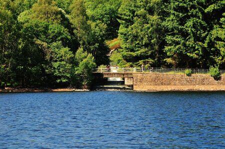 Feeder river enters a Loch  photo