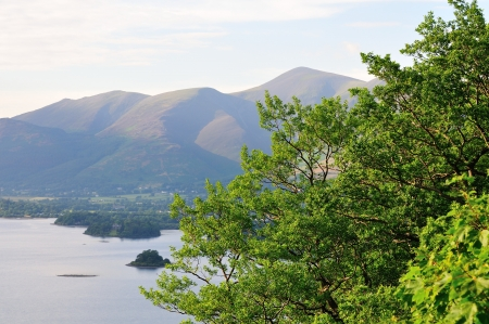 borrowdale: Derwent water and Skidaw