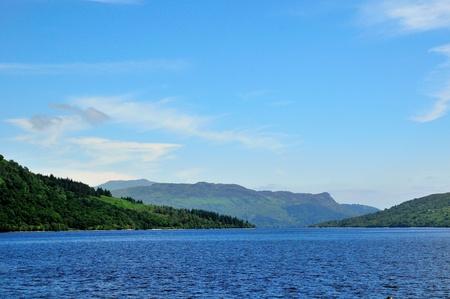 sir walter scott: Picturesque Loch Katrine  Stock Photo