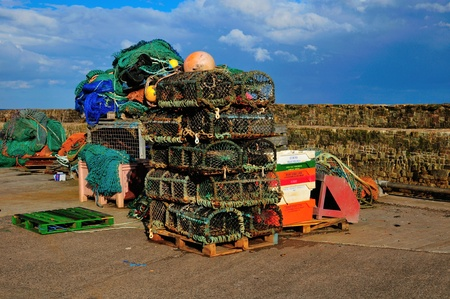 lobster pots: Lobster Pots at the ready