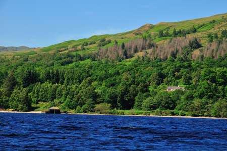 sir walter scott: Boat House on the banks of Loch Katrine