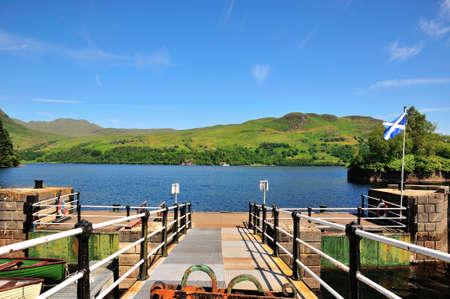 sir walter scott: Loch Katrine from the Pier at Stronachlachar  Stock Photo
