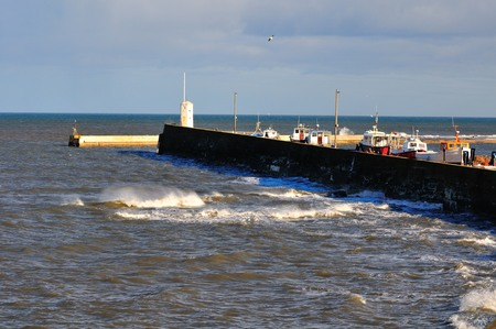 fishing fleet: Safe Harbour for a small fishing fleet on the North East coast of the UK