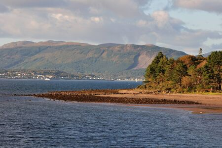mariner: Over the River Clyde towards Dunoon. Stock Photo