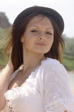 Lady in a country hat