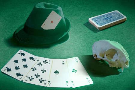 deadman: Deadman hand (poker) still life