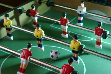 Table football diagonal shot