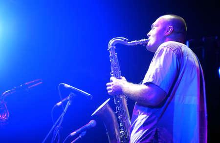 Sergey Golovnya, JVL quartet. Scene perfomance, Sevastopol JVL jazz festival Stock Photo - 10515475