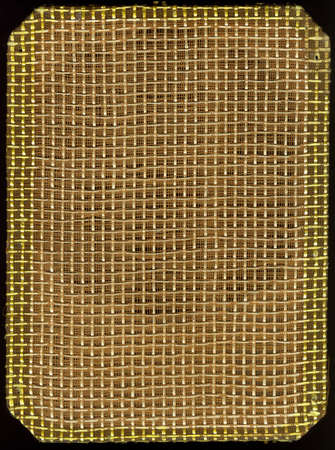 old radio speaker fabric texture scan isolated black Stock Photo