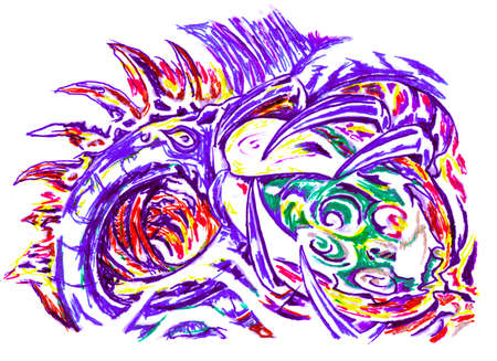 ball pen: abstract ball pen painting Stock Photo