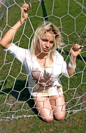 blinde girl in Net Goalie photo