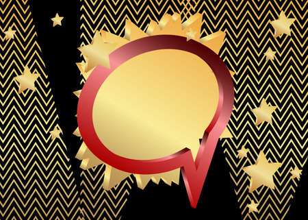 Minimalist black and red premium exclusive speech bubble gradient geometric elements. Vector luxury background with golden shapes.  イラスト・ベクター素材