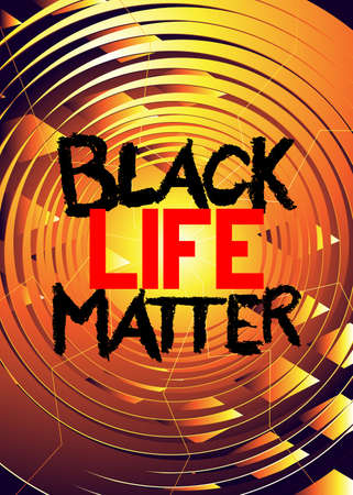 Black Lives Matter text on abstract background.